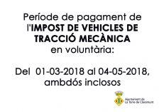 impost vehicle tracció 2018