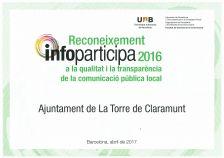 Diploma Reconeixement Infoparticipa 2017