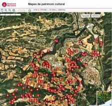 Imatge del mapa de patrimoni cultural de l'ajuntament